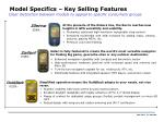 model specifics key selling features
