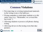 common violations2