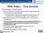 pde policy test security1