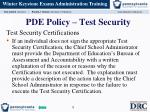 pde policy test security2