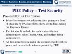 pde policy test security3