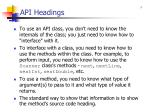 api headings