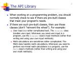 the api library