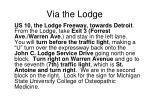 via the lodge