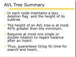 avl tree summary