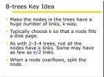 b trees key idea