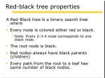 red black tree properties