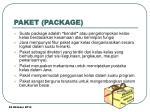 paket package