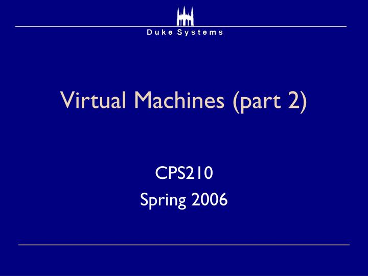 virtual machines part 2 n.