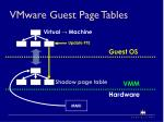 vmware guest page tables