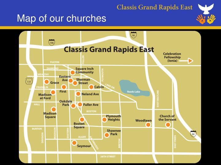 map of our churches n.