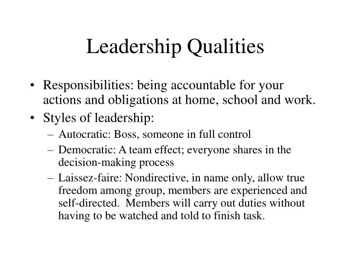 Leadership qualities1