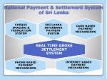 national payment settlement system of sri lanka