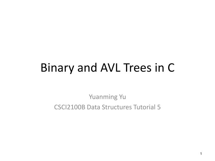 binary and avl trees in c n.