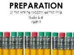 preparation is the key to success on the pssa grades 6 8 part 1