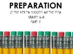 preparation is the key to success on the pssa grades 6 8 part 2