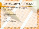 we re making ayp in 20131