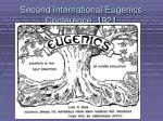 second international eugenics conference 1921