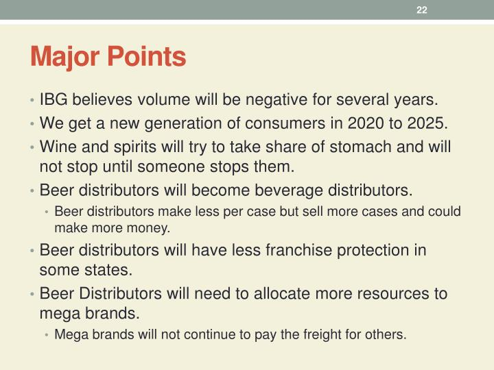 Major Points