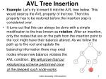 avl tree insertion