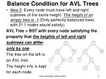 balance condition for avl trees