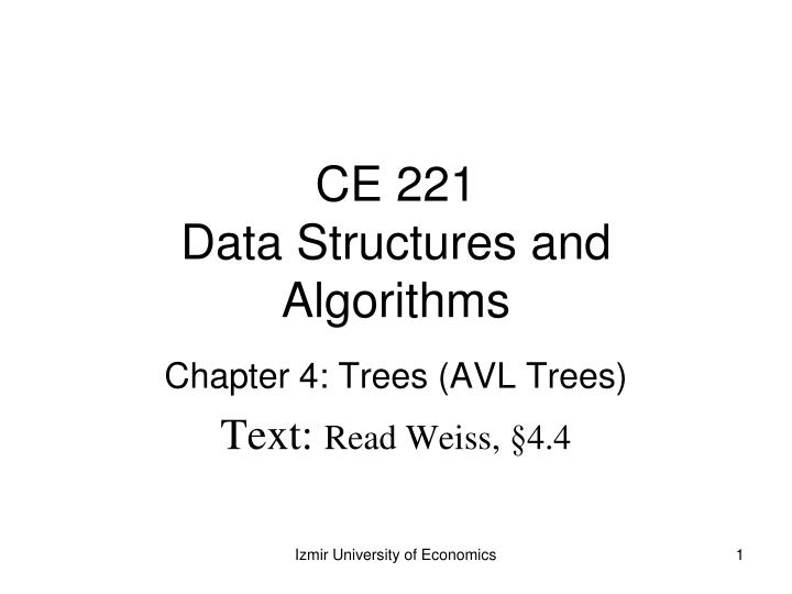 ce 221 data structures and algorithms n.