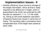 implementation issues ii