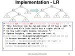 implementation lr