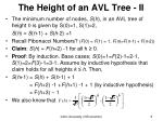 the height of an avl tree ii