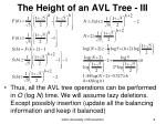 the height of an avl tree iii