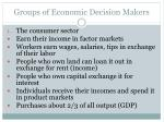 groups of economic decision makers