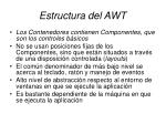 estructura del awt