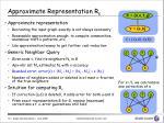 approximate representation r