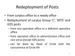 redeployment of posts