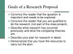 goals of a research proposal