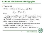 4 3 paths in relations and digraphs12