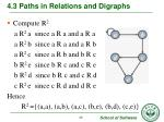 4 3 paths in relations and digraphs6
