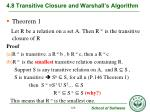 4 8 transitive closure and warshall s algorithm