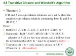 4 8 transitive closure and warshall s algorithm10