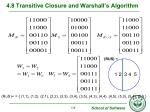 4 8 transitive closure and warshall s algorithm12