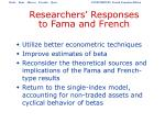 researchers responses to fama and french