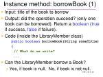 instance method borrowbook 1
