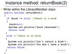 instance method returnbook 2