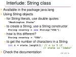interlude string class