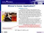 winner s curse application