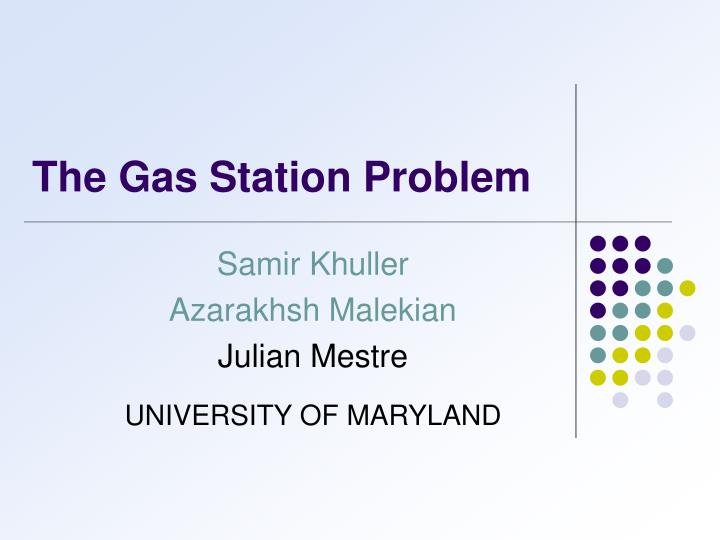 the gas station problem n.