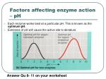 factors affecting enzyme action ph
