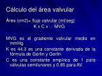 c lculo del rea valvular1