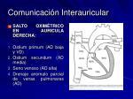 comunicaci n interauricular