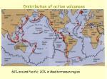 distribution of active volcanoes